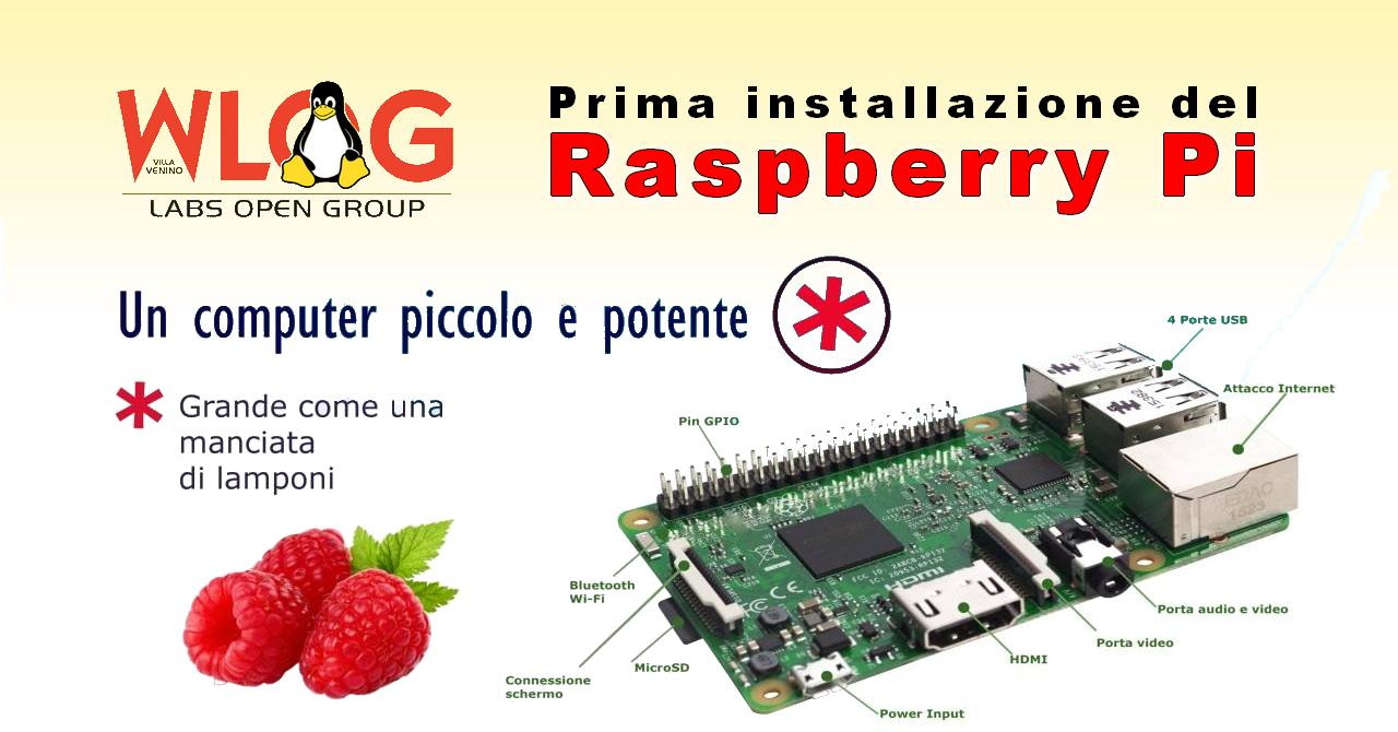 Prima installazione del Raspberry Pi
